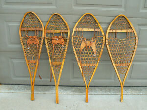 Old wooden snowshoes- two pair for the ski condo walls!