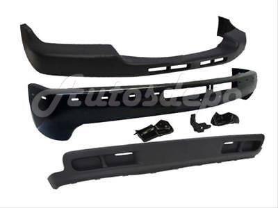 For 99-02 SILVERADO 2WD 2500HD 3500 FRONT BUMPER CAP BAR BLK VALANCE W/BRACKET