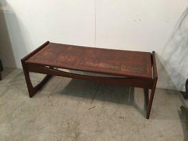 Tiled vintage coffee table