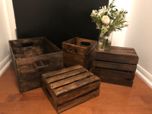 WEDDING DECOR - CANDLES, WOODEN CRATES, CUPCAKE STAND ETC