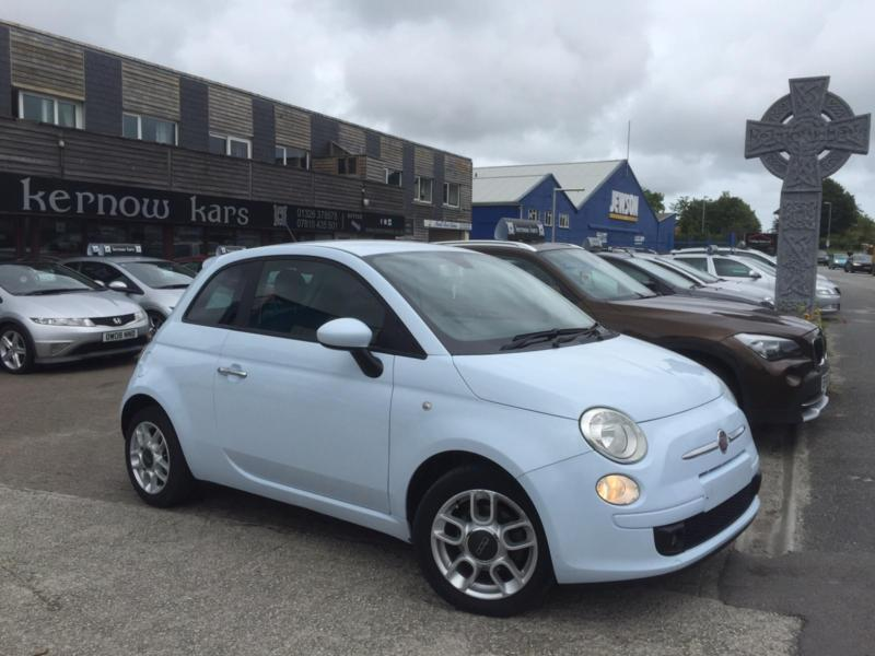 2008 08 fiat 500 sport 1 4 powder blue a c alloys new mot fsh in penryn cornwall gumtree. Black Bedroom Furniture Sets. Home Design Ideas