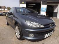 Peugeot 206 1.6 16v 2005 Coupe Cabriolet Sport 79K S/HISTORY DRIVE AWAY TODAY!