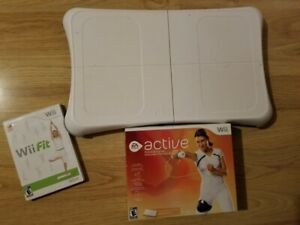 Wii fit game with board plus Active personal trainer set