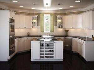 High Quality Custom Cabinets.  Made in Mississauga. 100% Custom made to fit your space. New Build or renovation call us!