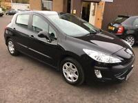 0909 Peugeot 308 1.6HDi ( 90bhp ) S Black 5 Door £30.00 Road Tax