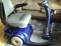 BLUE HMV INVACARE ZOOM 400 scooter for sale elliot lake