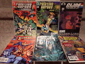 6 comic books in various condition. $5,00 for the lot.