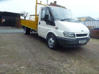 Ford Transit 2.4TDI ( 125PS ) 2006 lwb dropside pick up no vat 12 ft dropside