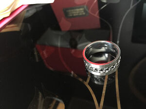 Mens ring size 12.5, stainless steel