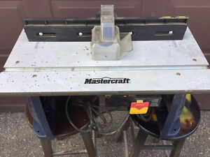 Mastercraft 9.5A Fixed-Base Router and Router Table & bits