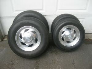 Boyd Aluminum wheels and tires 15 inch