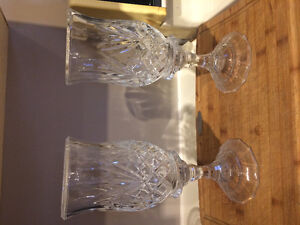 "Glass Candle holders 11"" tall"