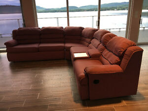 SECTIONAL COUCH WITH SOFA BED AND 2 RECLINERS