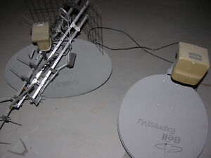 Two satillite dishes and one antenna All for $100