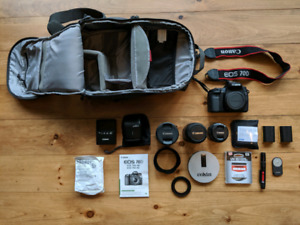 Canon Eos 70D with lots of extras in bag