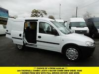 2011 VAUXHALL COMBO 1.3 CDTI 5 SEATER COMBI CREW VAN *** CHOICE OF 4 FROM £3995