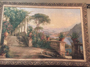 Beautiful Tapestry - hand woven with hooks and roads - very nice