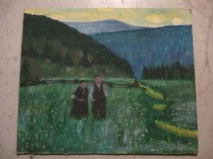 Couple in Field Painting