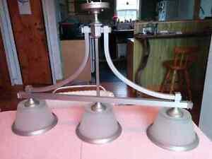Three shade hanging light fixture