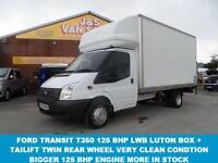 LUTON BOX VAN + TAILIFT 125 BHP ENGINE T350 3500 KG TON