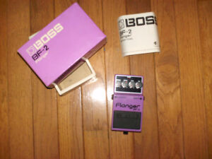 BOSS BF-2 FLANGER – MINT WITH ORIGINAL BOX AND MANUAL!