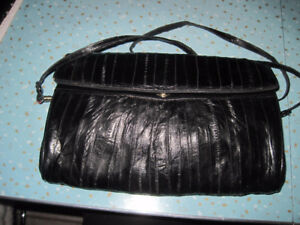 Vintage Genuine Exotic Eel Skin Clutch & Shoulder Purse