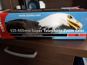 Opteka 420-800mm f/8.3 HD Telephoto Zoom Lens for T Mount