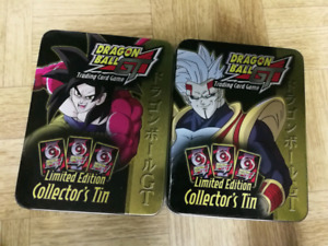 Dragon Ball GT collector tins and cards