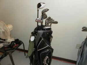 Mens RH Golf Clubs and Bag