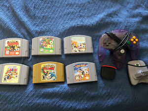 N64 games, controller and expansion pak
