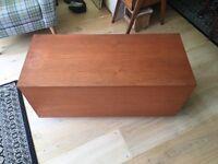 Blanket box ottoman toy chest storage on castors wheels