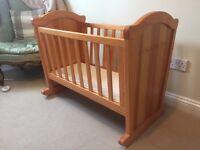 Winnie the Pooh wooden rocking crib