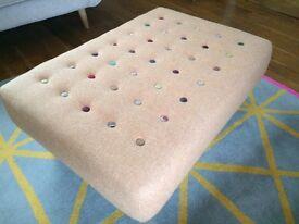 Pouffe footstool designer buttoned Ex.Cond