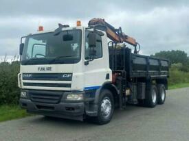 DAF TRUCKS CF75 310 6 X 4 Tipper With Grab