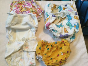 DIAPERS  Cloth ---  NEWBORN to Size Large --- Gently Used