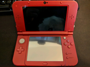 "LNIB Red ""New"" 3DS XL + 9 games & Carry Case"