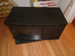 TV Stand For Sale With Swivel and Glass Front