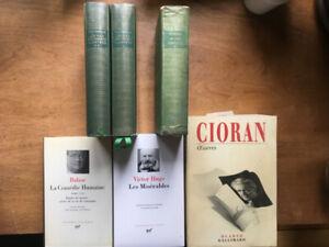 Lot de livres rares ou précieux (Pléiade et Quarto)