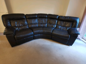 Dark Brown leather recliner sofa (Electric) - £200 ONO