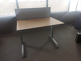 HEIGHT ADJUSTABLE DESKS - TECHNO - HIGH QUALITY WITH PEDESTAL