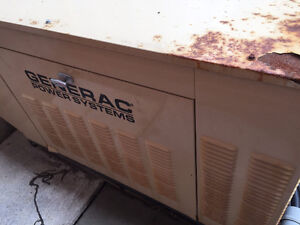 15 KW Generac Natural Gas Generator with Switch