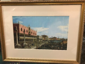 Framed and matted Canaletto Venice print