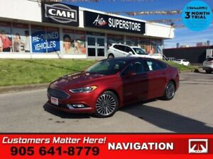 2018 Ford Fusion Titanium  NAV LEATH ROOF CS HS CAM P/SEATS BT