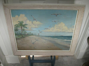 OLD ORIGINAL OIL PAINTING [1959]  by CLIFFORD COX  [signed]
