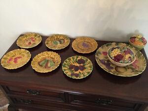 Eatate Sale Sarreguemines France  Pottery Collection