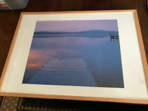 Dock on the water print in frame