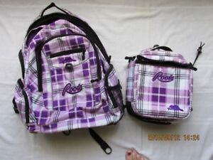 $10..Roots Back Pack & Matching Lunch Bag....