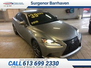 2016 Lexus IS 300 Base  - $296.30 B/W