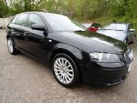 Audi A3 1.9 TDI SPORT SPORTBACK (FULL SERVICE HISTORY + LOW RATE FINANCE AVAILABLE) (black) 2006