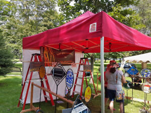 Vendor Display Tent with Sides - Heavy Duty